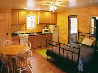 Grayling cabin photo - Kitchen and dining area.