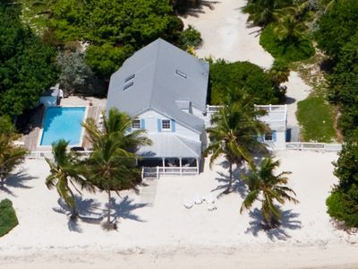 "Partial aerial view of historic  ""Last Resort"", Islamorada, Florida Keys."