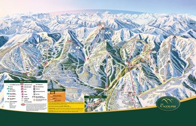 THE CANYONS RESORT TRAIL MAP