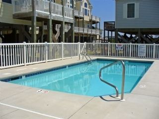 Surf City townhome photo - Pool (+tanning deck with lounge chairs, not shown)