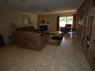 Sun Lakes townhome rental - Living Room with fireplace.