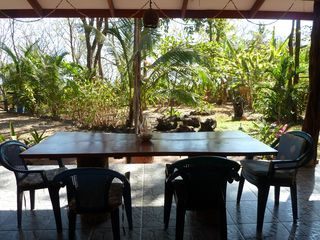 Montezuma house photo - dining table and view from patio