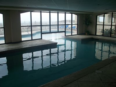 Additional view from indoor pool w/swim thru to outdoor pool