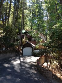 Mount Hermon cabin rental - View from driveway