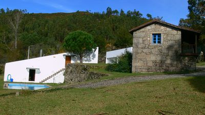 Luxury farmhouse in natural surroundings with private pool and a rustic home