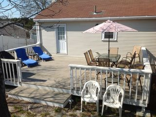 Very large and private deck ... great for entertaining!! - Provincetown house vacation rental photo