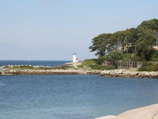 Gloucester - Annisquam house photo - A view of the lighthouse from our lawn.