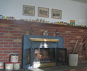 Copake house photo - Living room fire place