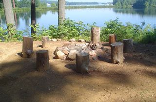 Lake Winnisquam cottage photo - Fire pit during the day