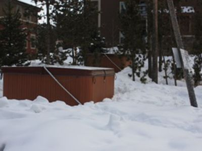 2 relaxing hot tubs just steps from our front door.