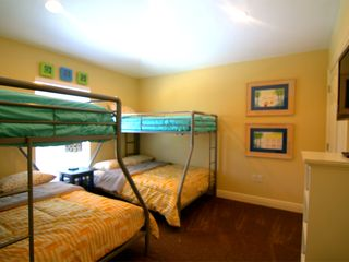 Crystal Beach house photo - Bunk Room with 2 Twin Over Fulls