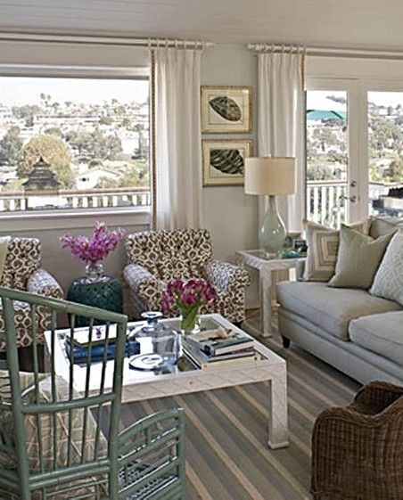 Seaside Cottage Living Room: Designer Home Featured In Coastal Living...