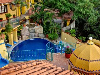 Pool from Above - Puerto Vallarta villa vacation rental photo
