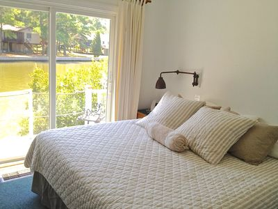 Wake up to great water views from Master Bedroom at Spinnaker Vacation Rental
