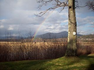 North Conway house photo - Another picture of the View. Do you see the rainbow?