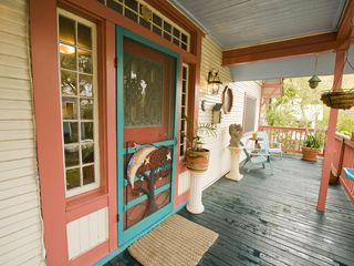 Austin house photo - Fun front porch to enjoy morning coffee or tea.
