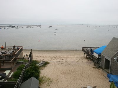 3 Bedroom 2 Bath Penthouse on the Beach in Central Provincetown.  View from Deck
