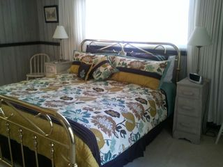Ocean Pines house photo - Master Bedroom with King Bed and walkout french doors to deck with Cable TV