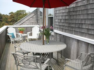 Madaket house photo - second floor deck with view of conservation, outdoor grill