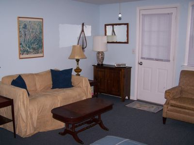 Cossayuna house rental - 2nd living area with love seat, TV/VCR, double bed
