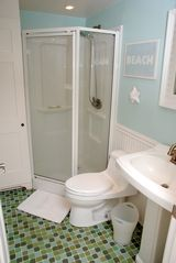 Chatham house photo - In addition to the full and half bath there is also an enclosed outdoor shower.