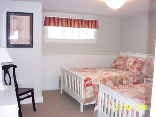Bedroom lower level with 2 double beds - Pocasset house vacation rental photo