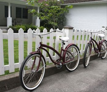 Bikes to enjoy the 5 mile long bike trail that runs in front of the house.