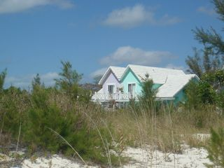 Grand Bahama Island cottage photo - View of Lilac and Key Lime from Beach