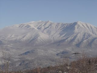 Mt. LeConte, A winter view from condo balcony - Gatlinburg condo vacation rental photo