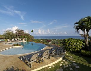 Montego Bay villa photo - Extra deep pool has shallow area for kids play