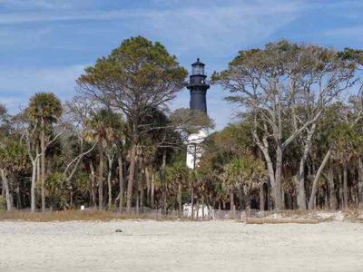 Climb Light House at Hunting Island Park/Beach less than 1 mile from our House