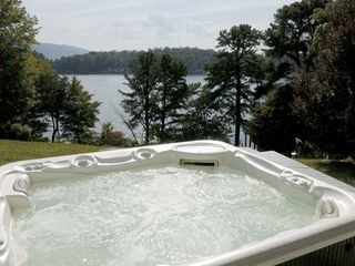 Huddleston estate photo - View of the lake and mountain from the hot tub at the Main House