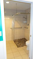 St. Augustine Beach condo photo - Bath area with large tub and standing shower (private area)