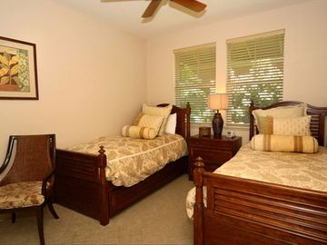 Twin beds in third bedroom are perfect for kids.