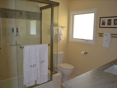 Chatsworth house rental - Both bathrooms were completely renovated in 2011 with luxury fixtures & linens.