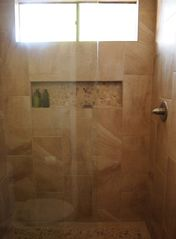 Old Town Scottsdale condo photo - Pebble shower floor and adjust the temperature without getting all wet!