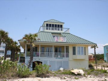 St George Island house rental - Covered parking below. 2 BR, kitchen, LR, DR, 1BA on main. 2 BR 1 BA on second