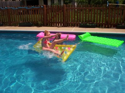 Weaverville apartment rental - Another fun in the sun swimming guest!