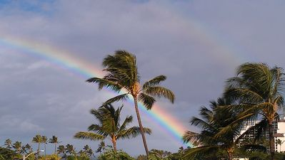 Another beautiful rainbow in Paradise as seen from our Lanai