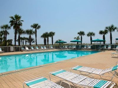 Oceania Destin condo rental - Pool overlooks the ocean