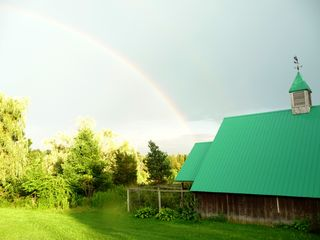 Niagara-on-the-Lake house photo - rainbow over our barn