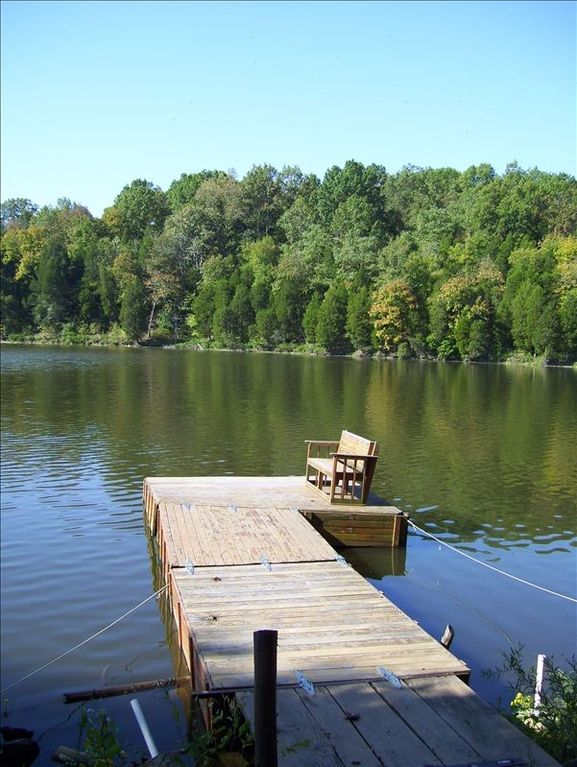 Floating dock in summer