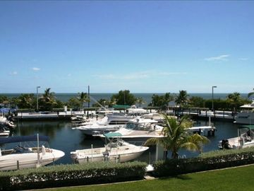 Key Largo villa rental - Panoramic View of the Ocean and Marina from our Balcony