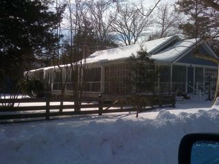 Rehoboth Beach cottage photo - Oak Cottage in Winter - gorgeous in the snow. Look at those icicles!