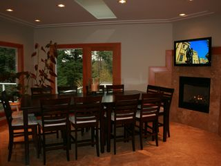 Bandon house photo - Dining for Twelve Plasma TV and Fireplace, Exterior Deck