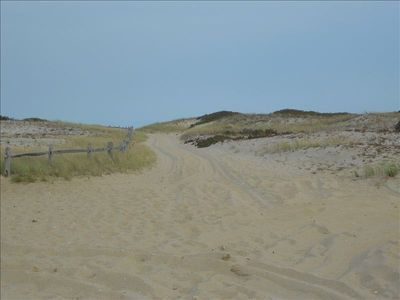 Take your four wheel drive on the dunes.