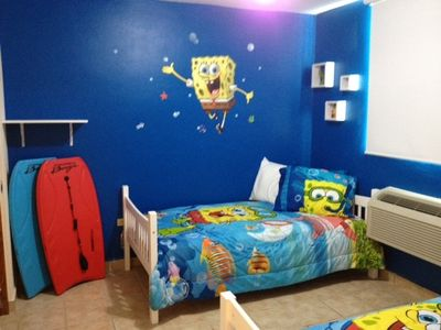 Isabela apartment rental - The spongebob adventure room - just for Kids !!! Including happy adults. 2 twIn