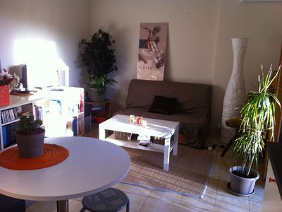 Large 34m2 studio, with bedroom, between sea and mountains