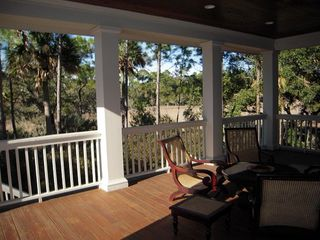 Kiawah Island house photo - Large back patio
