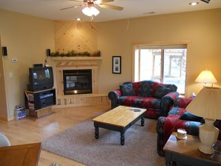 Biwabik house photo - Large Family room with great Lake Views; HDTV just added!